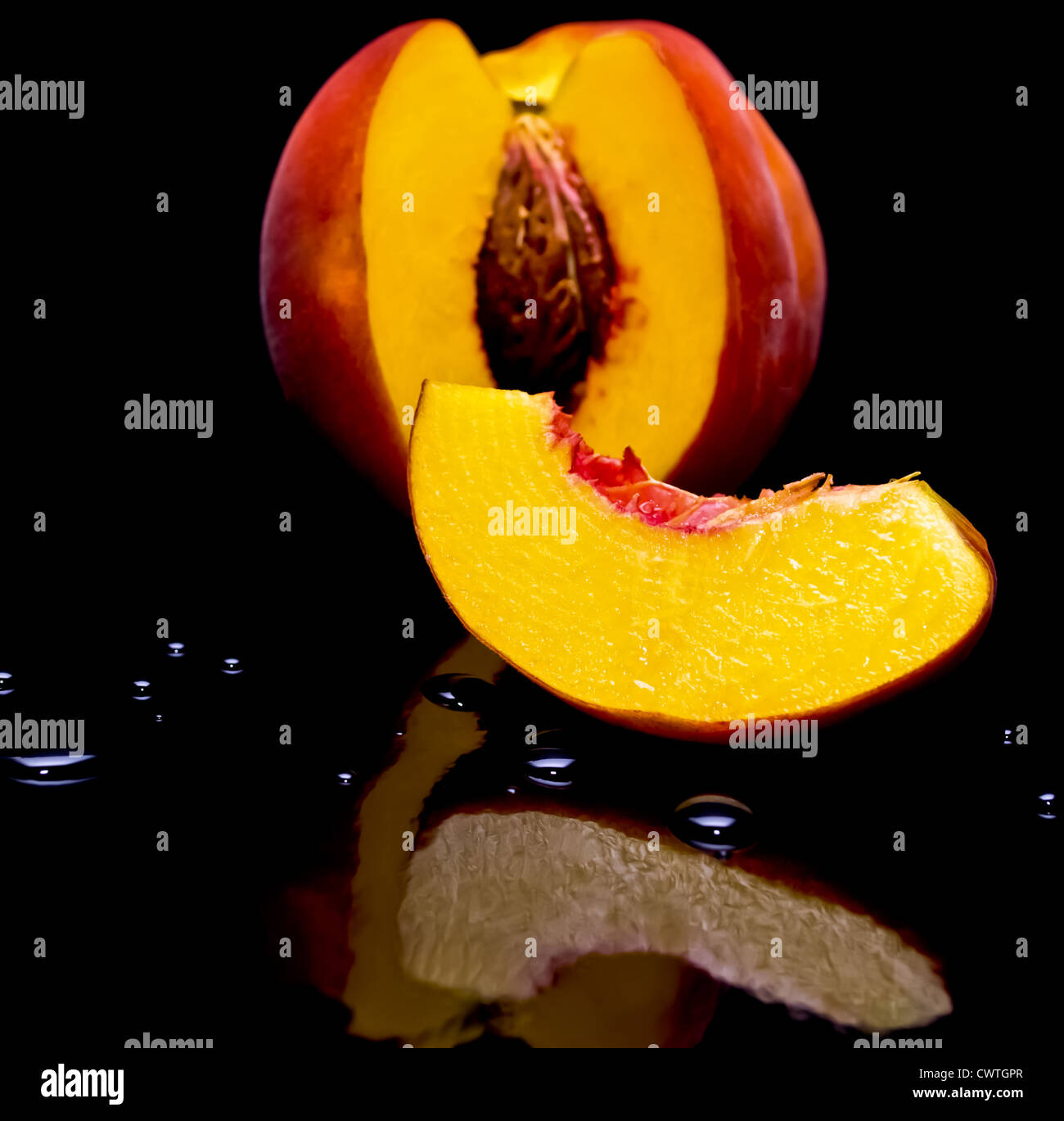 peach shot against black background with water drops and reflection stock photo alamy https www alamy com stock photo peach shot against black background with water drops and reflection 50327167 html