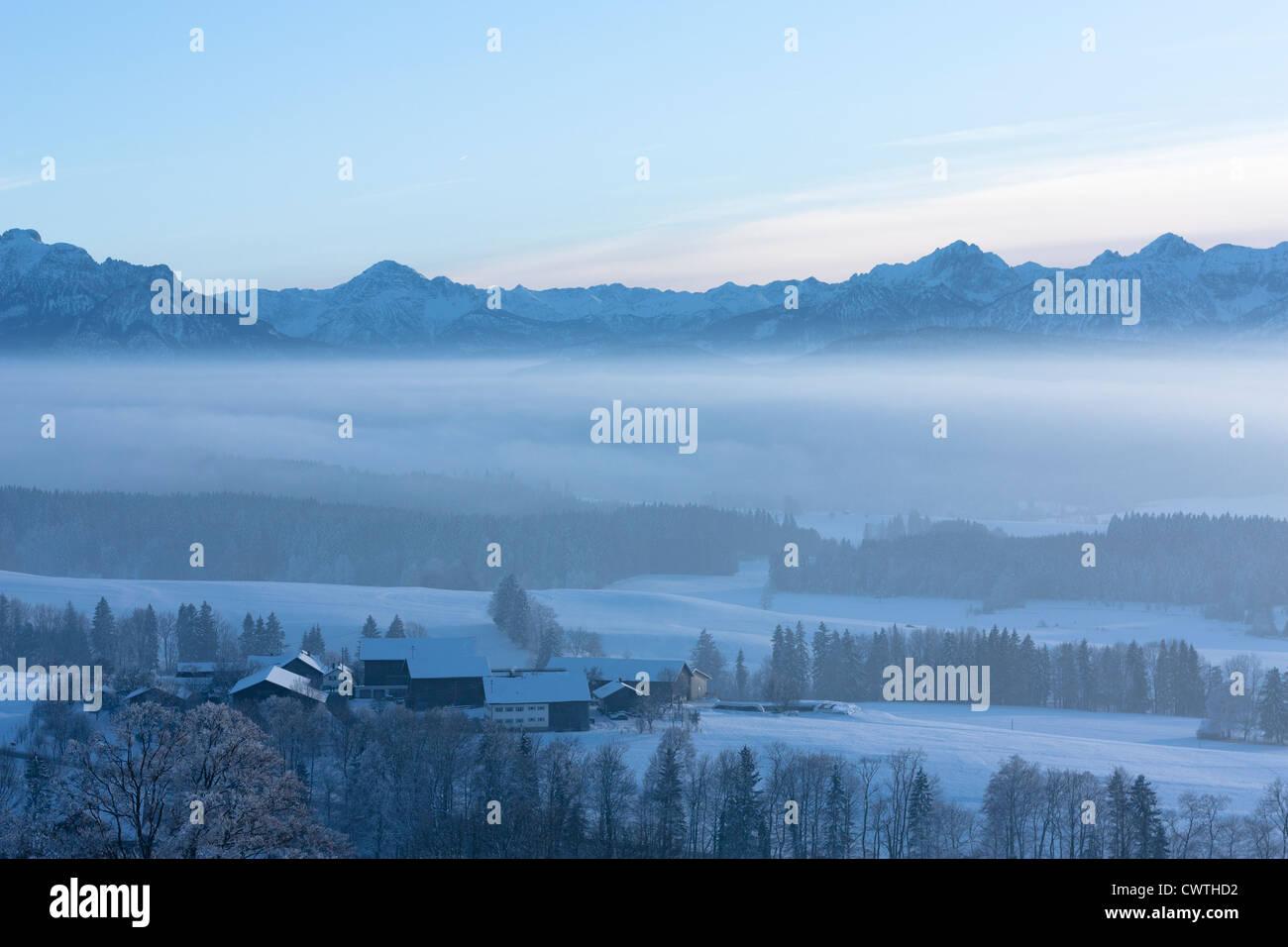 Allgäu, Bayern, Berge, Bavaria, Mist, Nebel - Stock Image