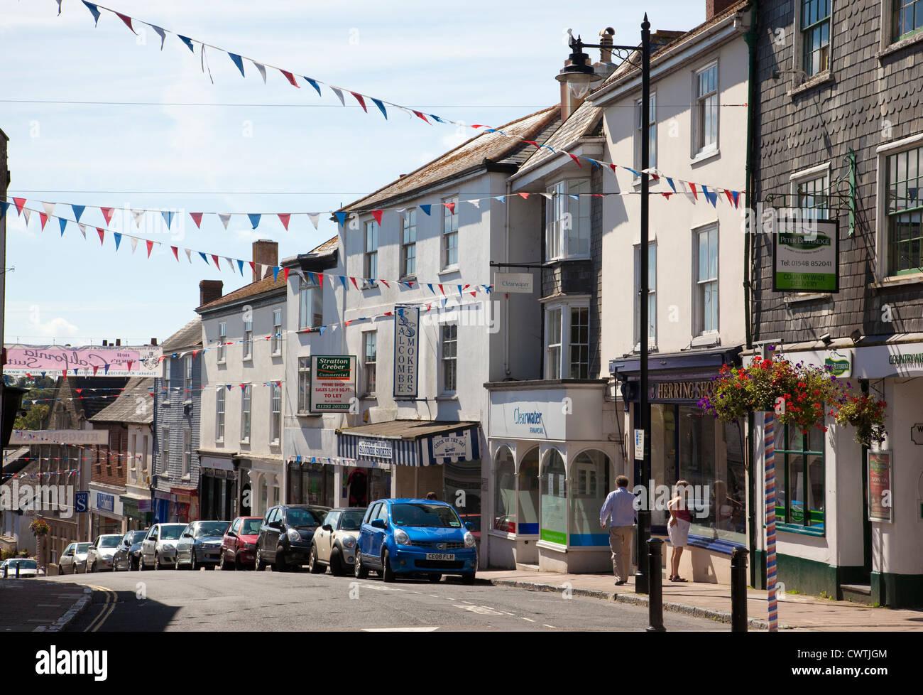Kingsbridge, Fore Street, South Devon, England, United Kingdom - Stock Image