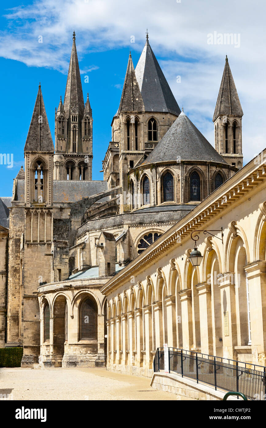 Abbey of Saint Etienne, Caen, Normandy, France - Stock Image