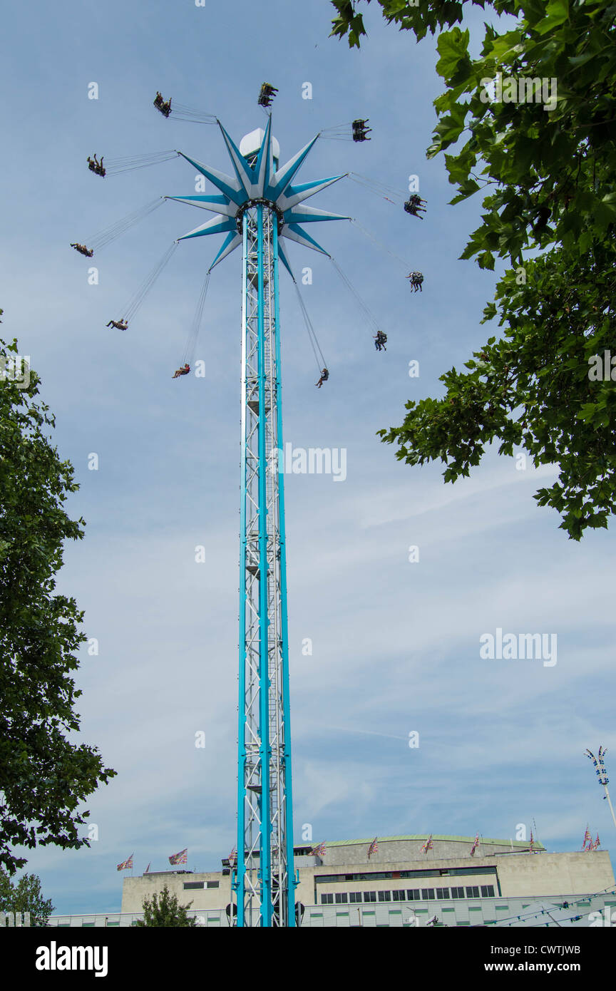 Star Flyer at Priceless London Wonderground site on the South Bank Centre, London UK - Stock Image