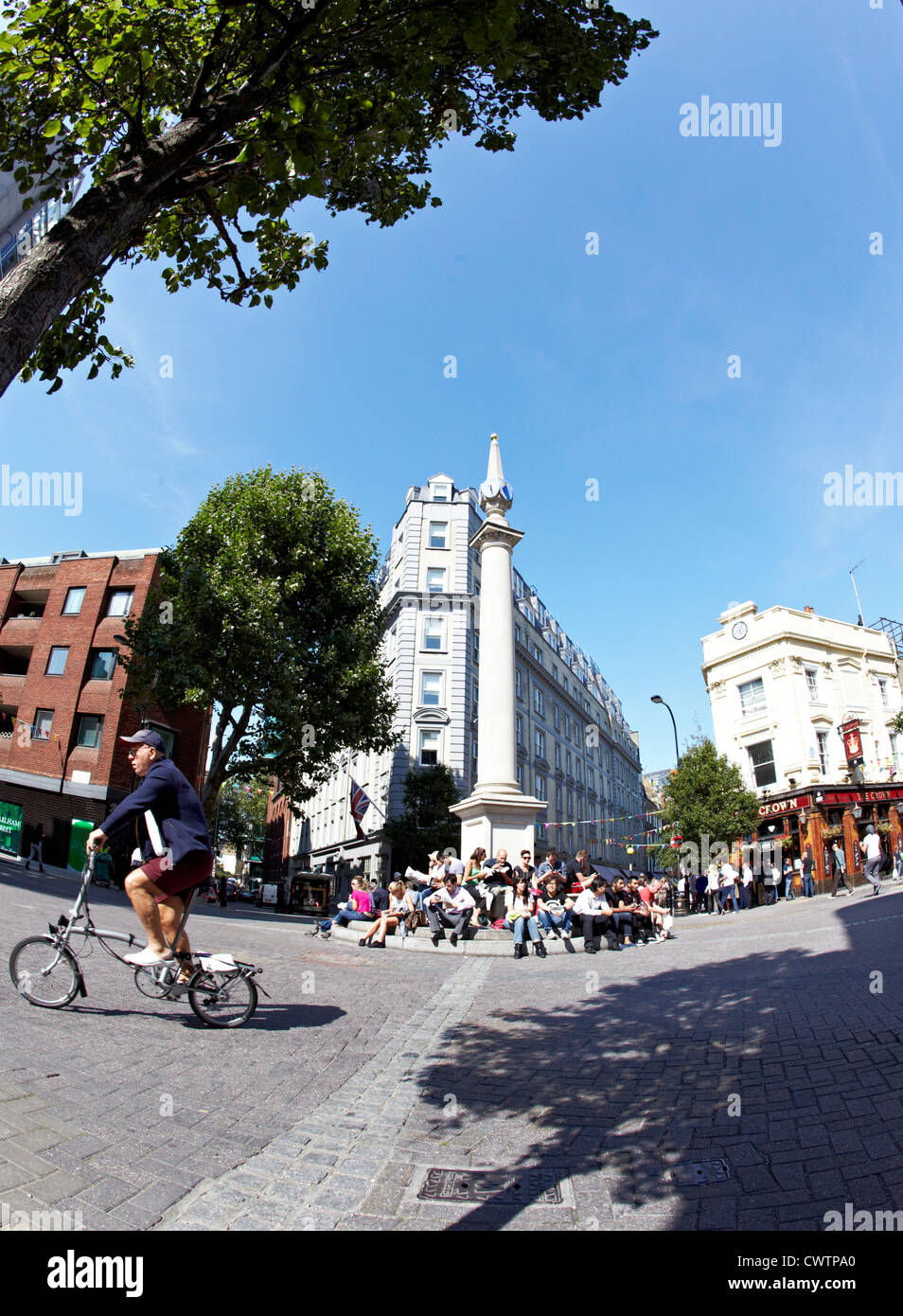 The Seven Dials London Uk - Stock Image