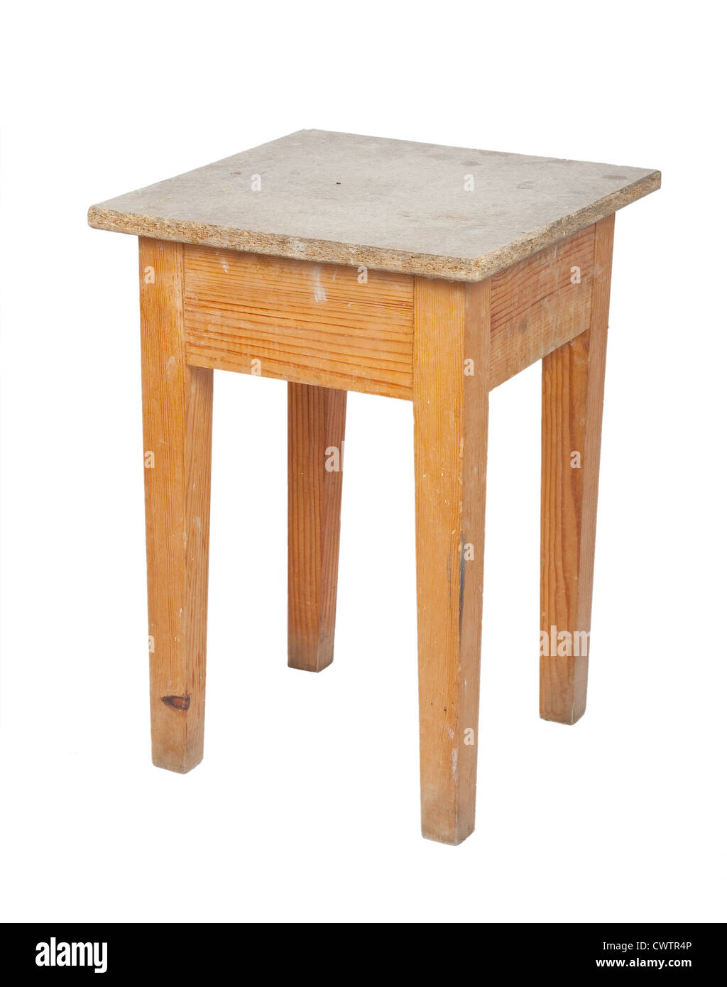 Wooden stool - Stock Image