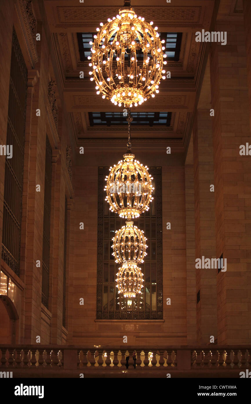 Chandeliers in the grand central station new york city usa stock chandeliers in the grand central station new york city usa aloadofball Images