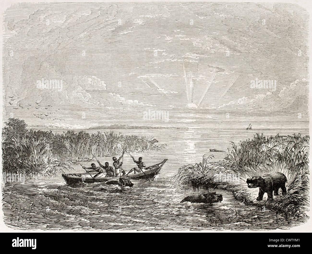Lake Chad old view - Stock Image