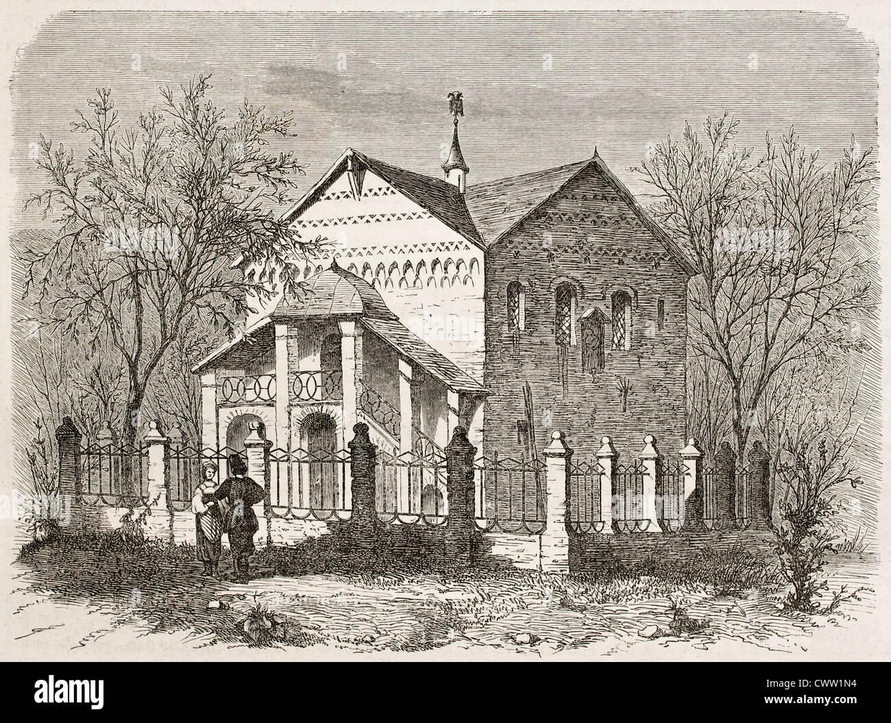 Old view of a Uglich edifice, Russia - Stock Image