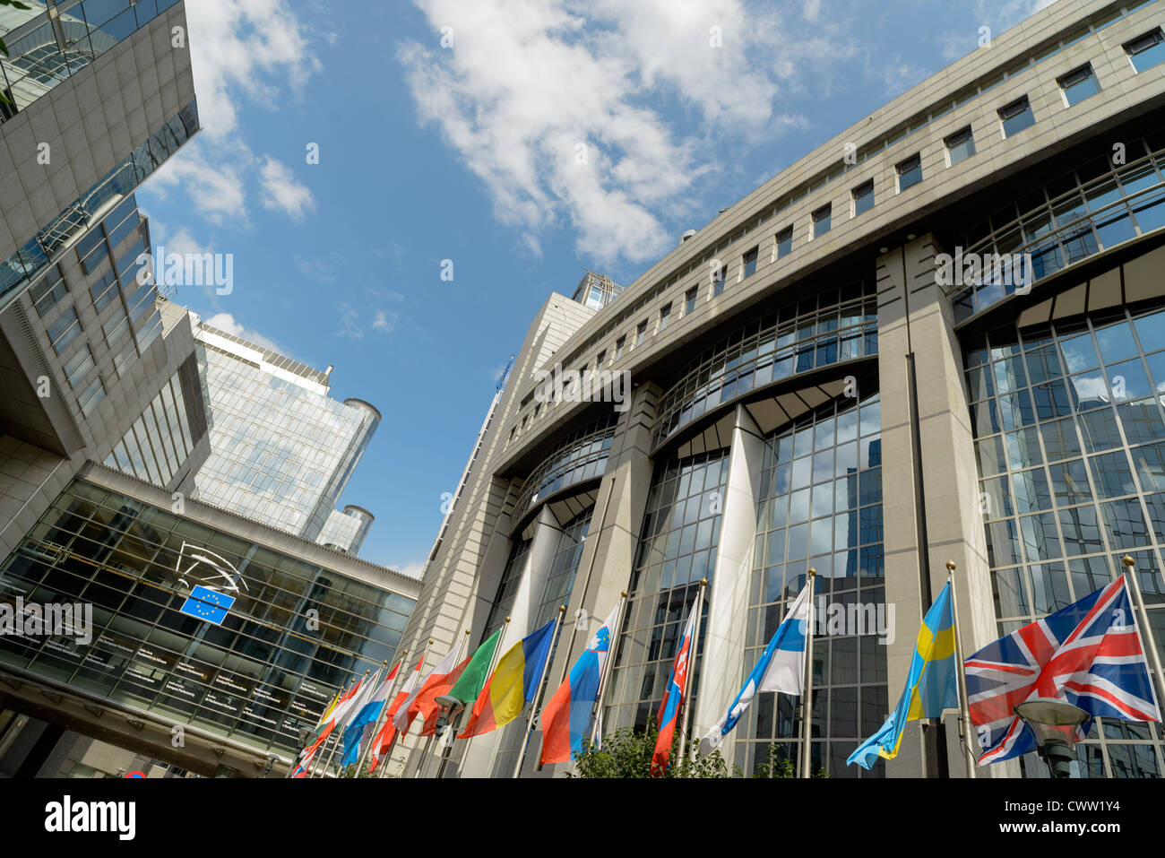 European Parliament Building,Brussels,Europe Stock Photo