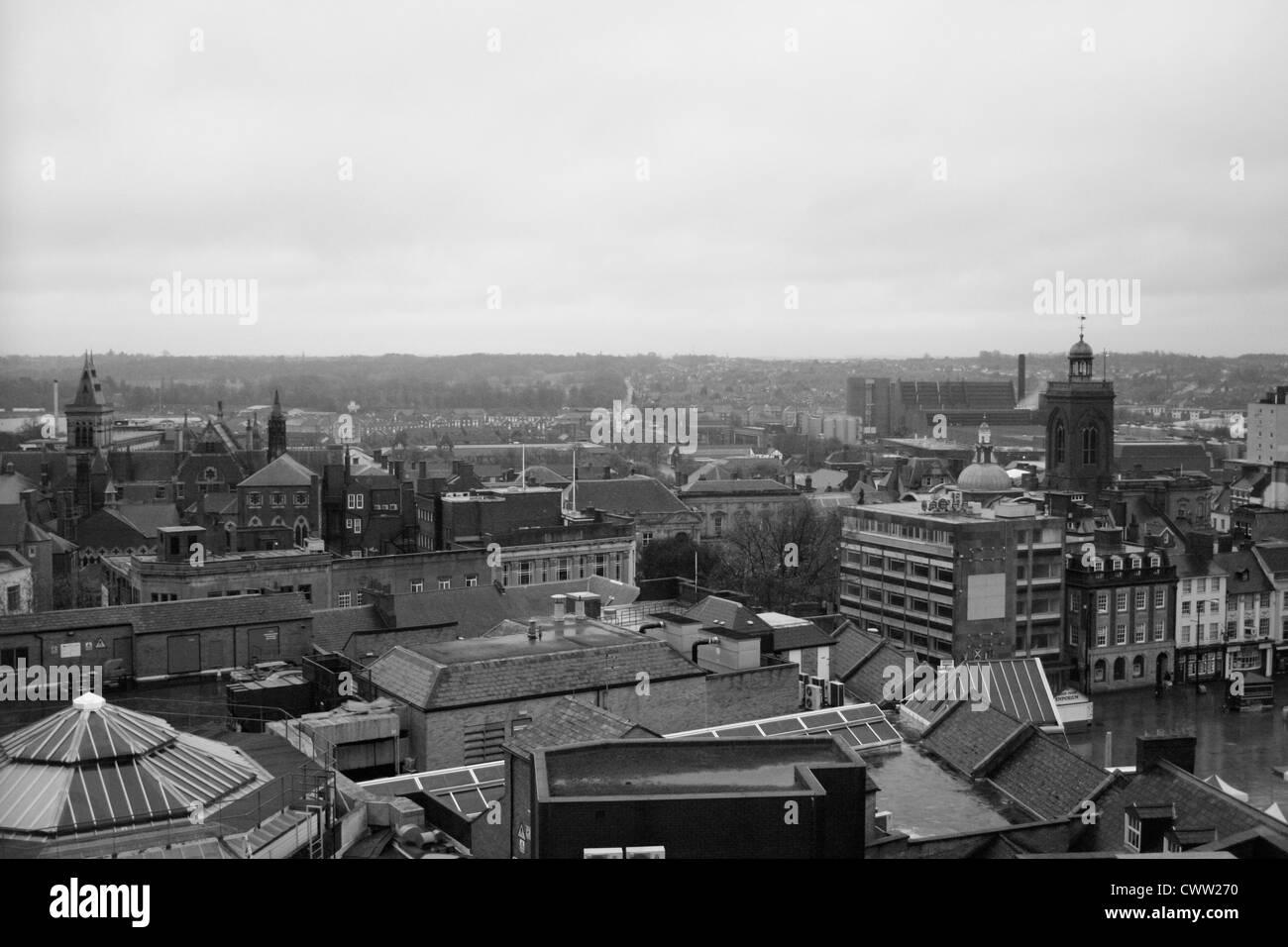 Northampton Town Centre landscape - Stock Image
