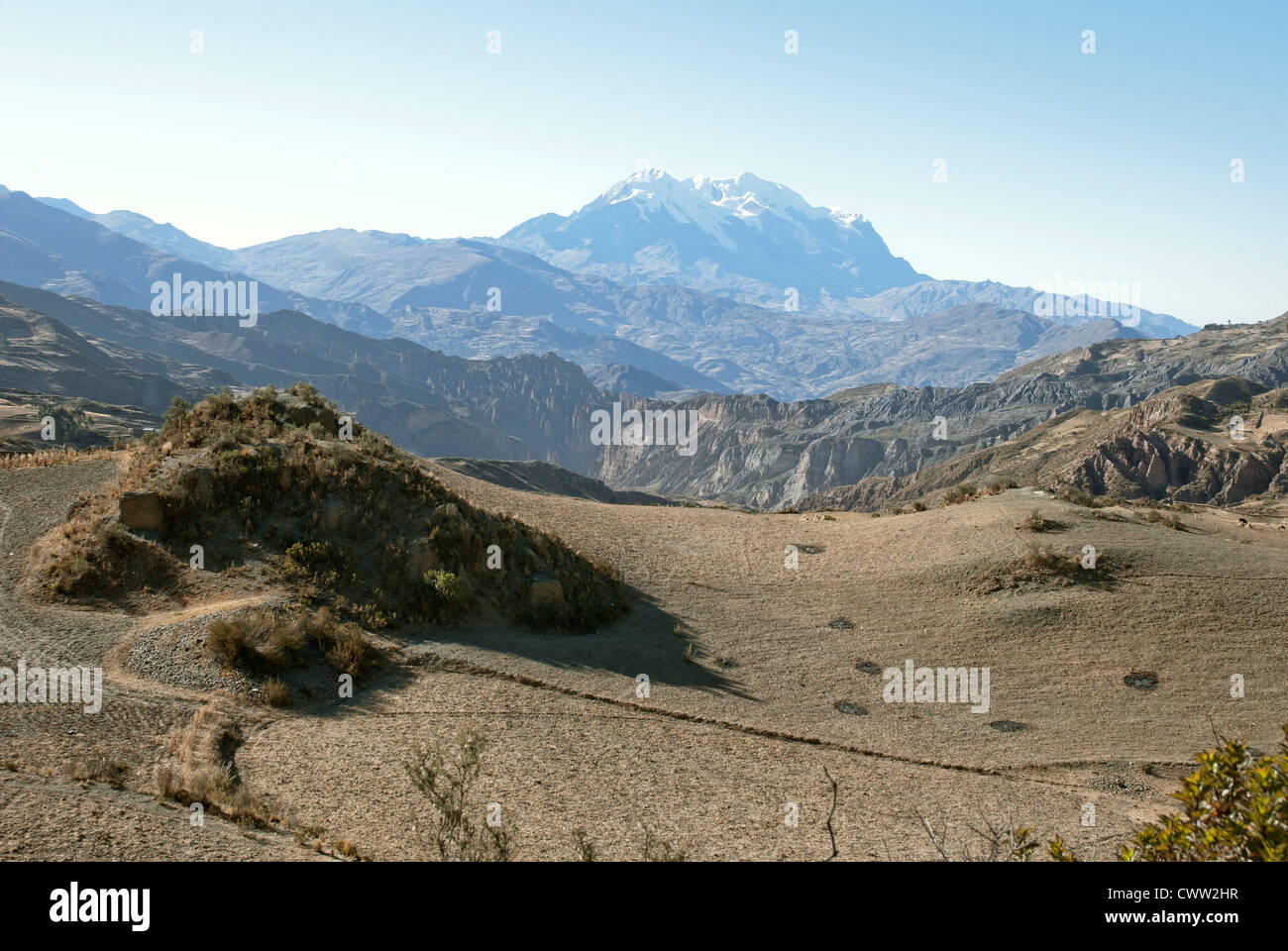 View of the Illimani, Bolivia - Stock Image