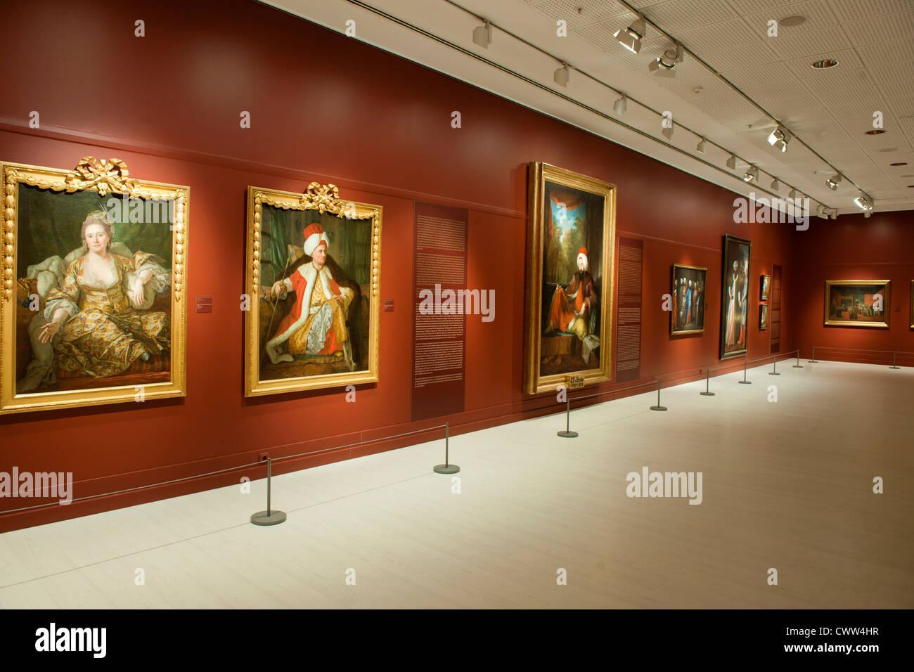 Türkei, Istanbul, Beyoglu, Tepabasi, das Pera-Museum ist ein Kunstmuseum. Malerei aus der osmanischen Periode. - Stock Image