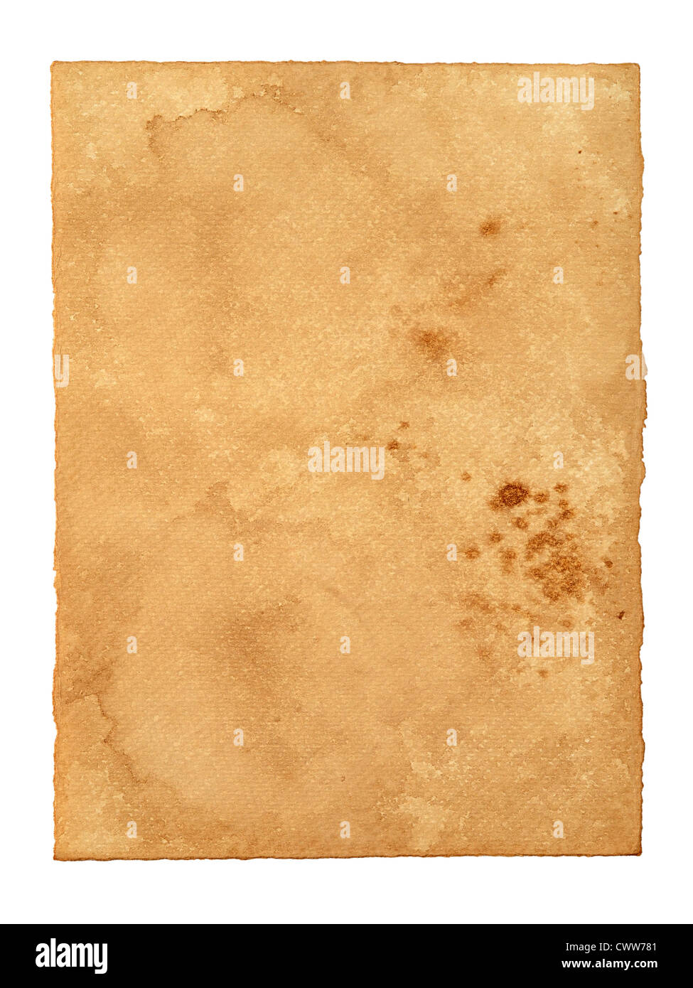 Old Vintage Paper as Background with Empty Copy Space for Text - Stock Image