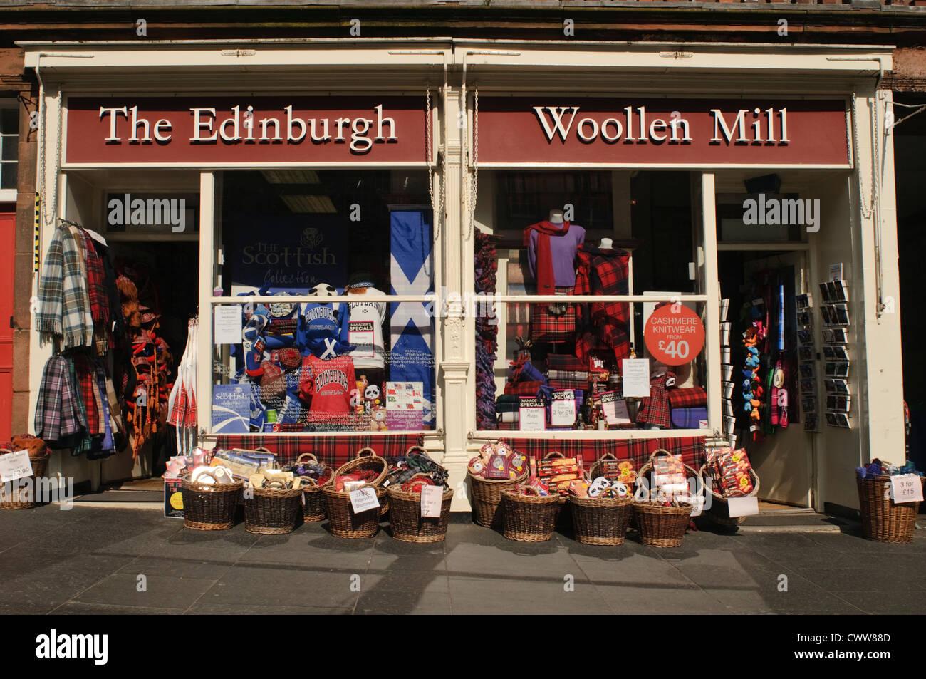 The Edinburgh Woolen Mill Gift Shop On The Royal Mile Edinburgh Stock Photo Alamy