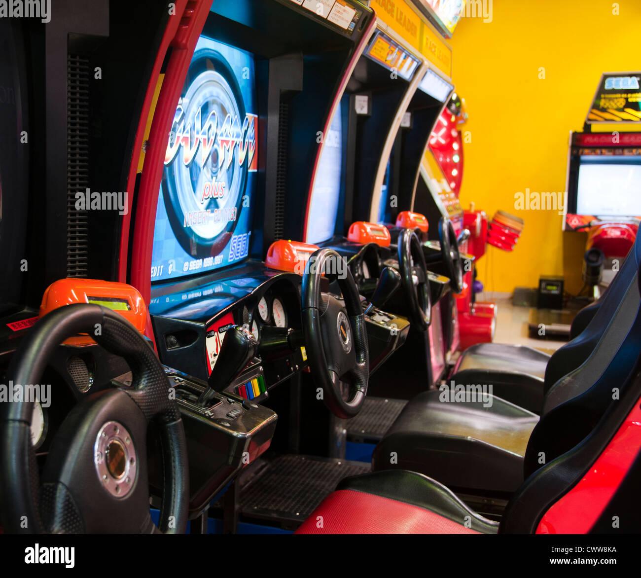 Arcade Racing Game - Stock Image
