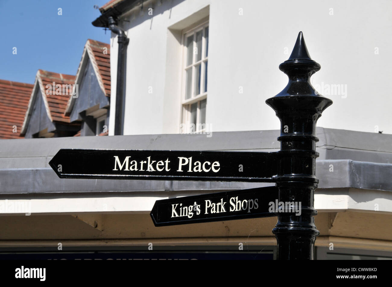 market sign wantage oxfordshire oxford - Stock Image