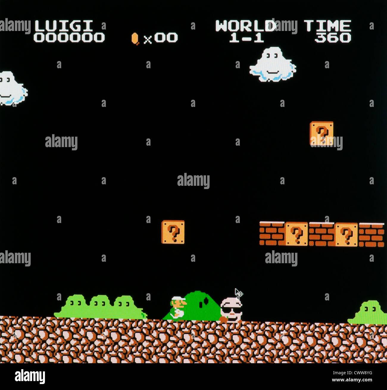 Super Mario bros  video game - Stock Image