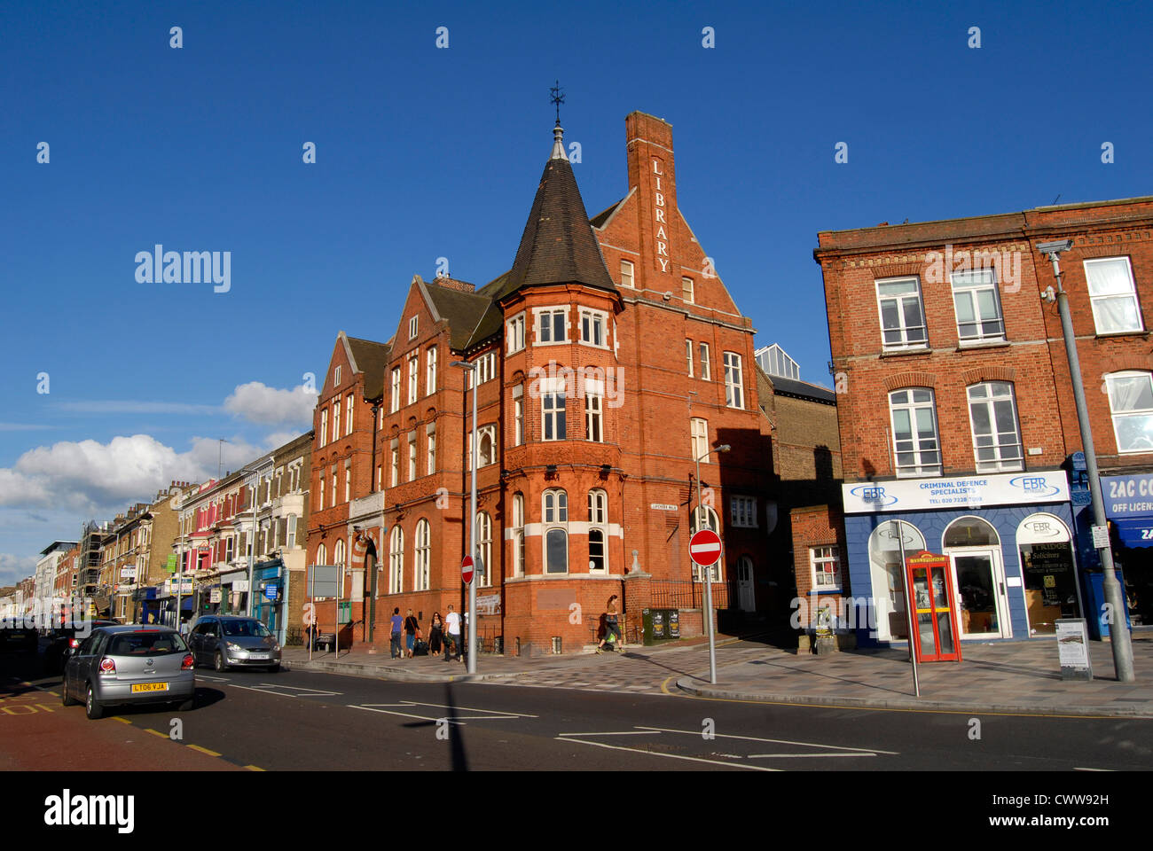 Clapham Junction Library Stock Photo