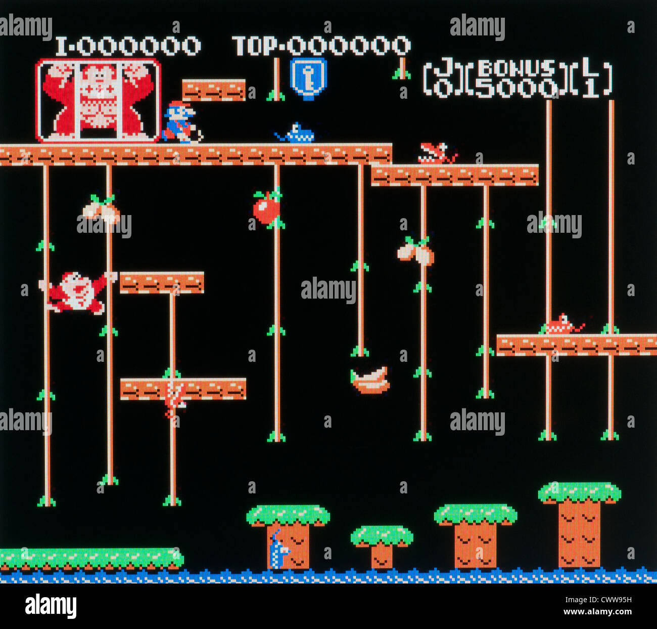 Donkey Kong arcade video game - Stock Image
