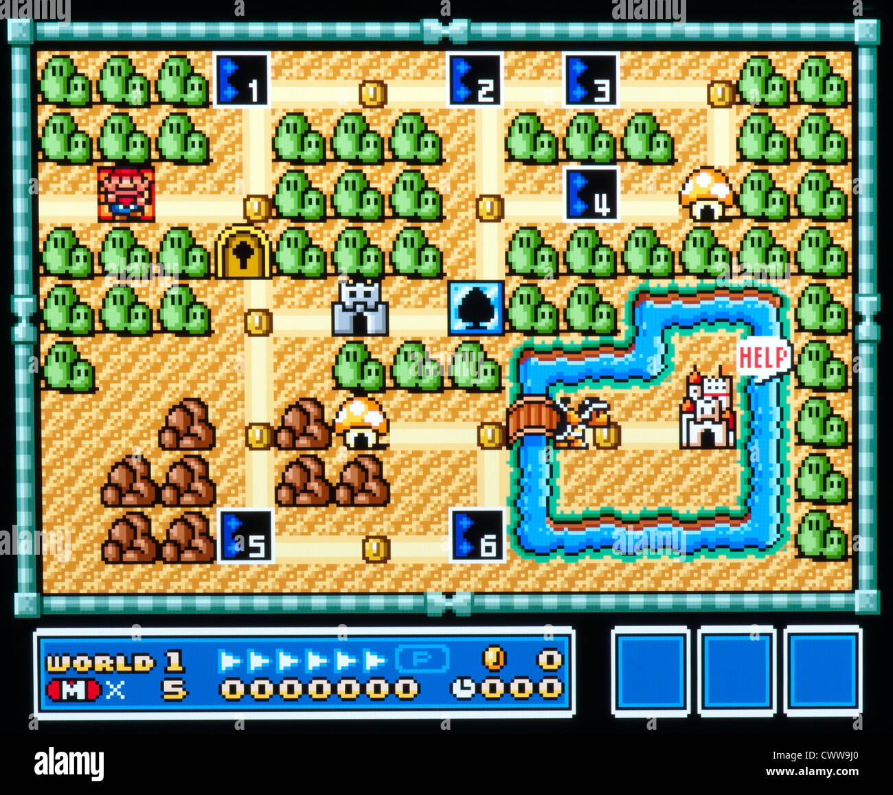 Super mario bros video game world 1 level map interface stock super mario bros video game world 1 level map interface gumiabroncs Gallery