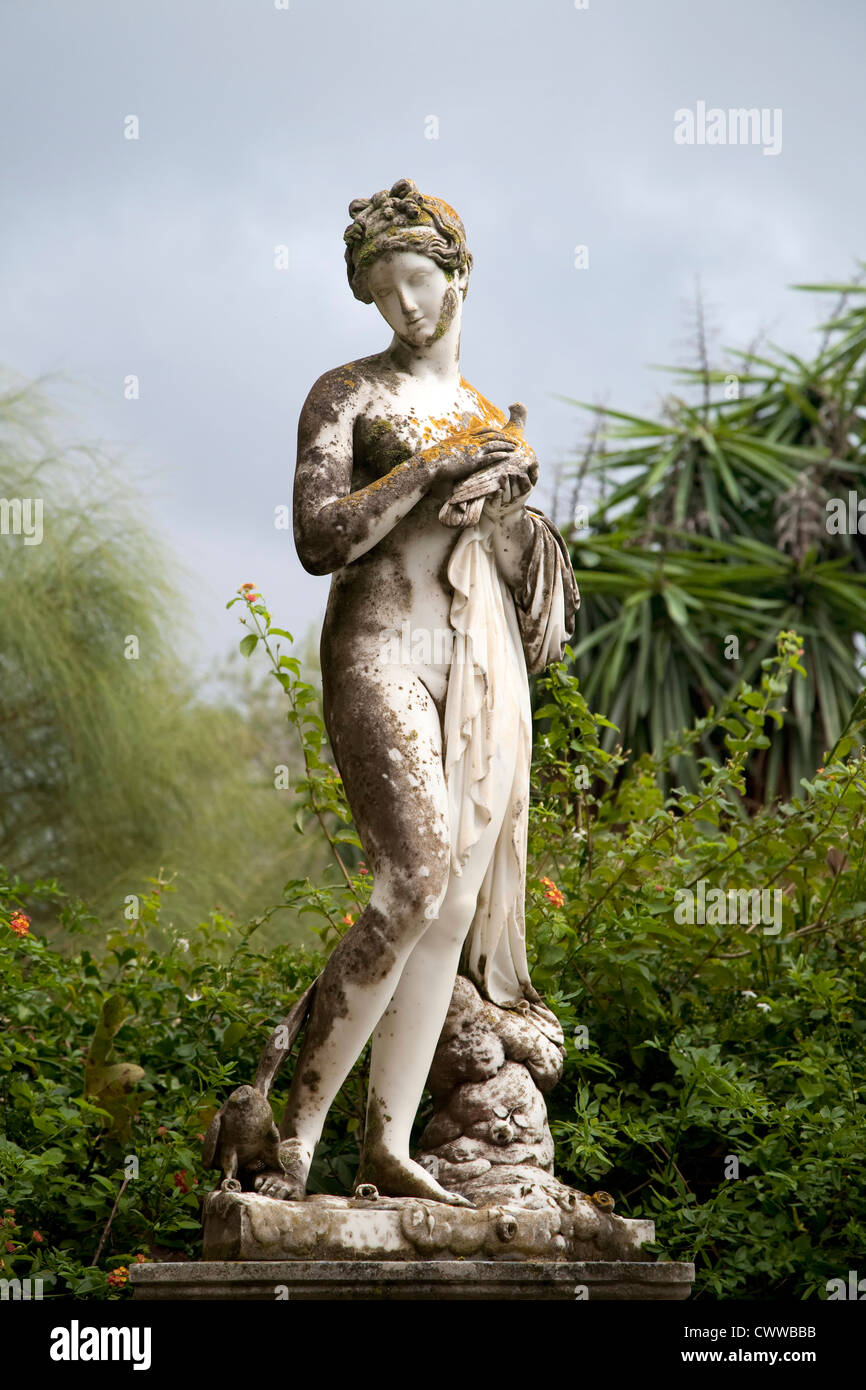 Sculptured figure on the grounds of the Achillion Palace on the island of Corfu. - Stock Image