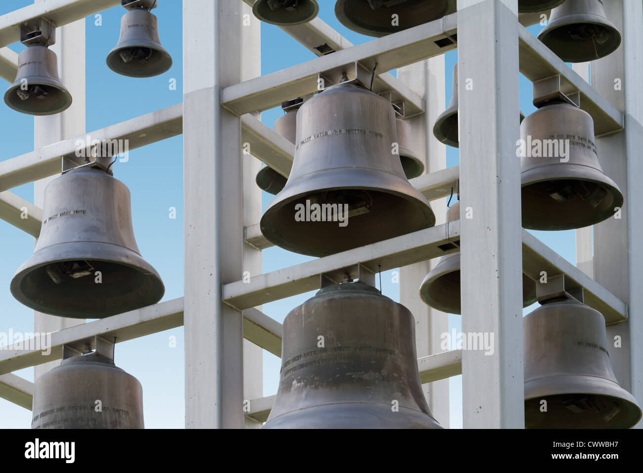 Bells of  a tower - Stock Image