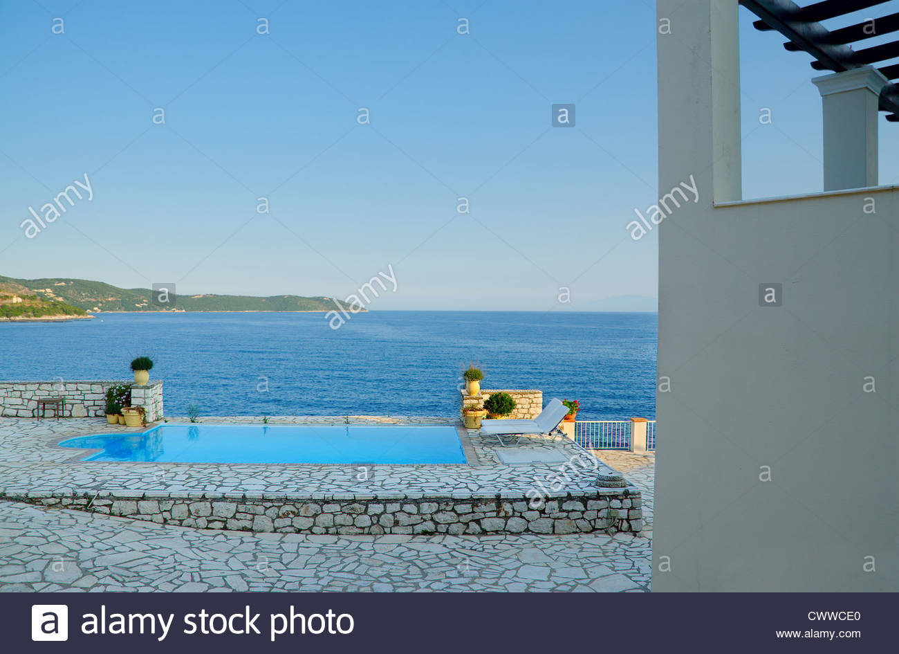 Pool by the sea - Stock Image