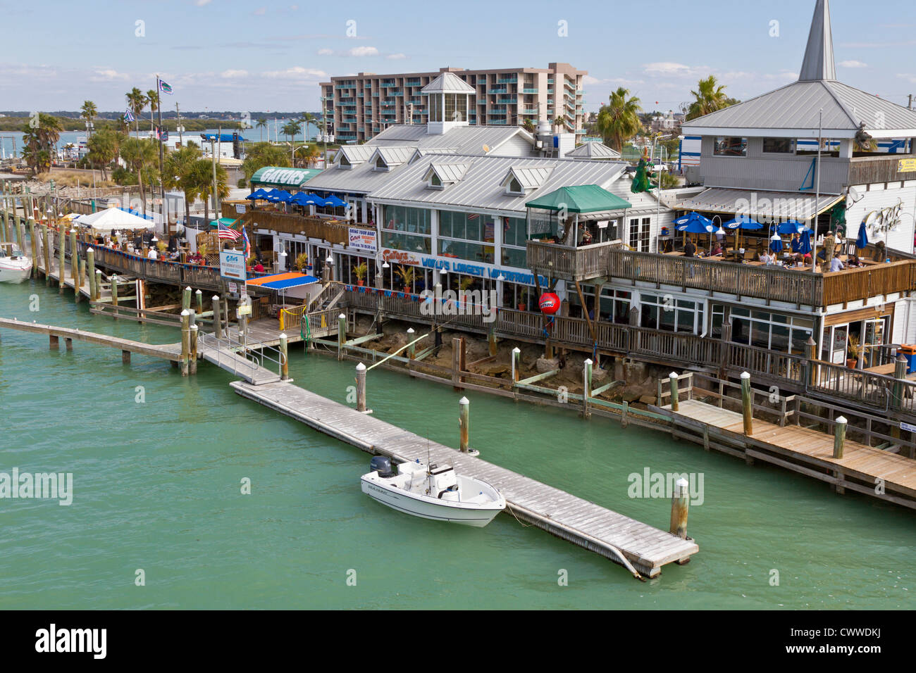 Shops And Restaurants On The Treasure Island Side Of Johns Pass On