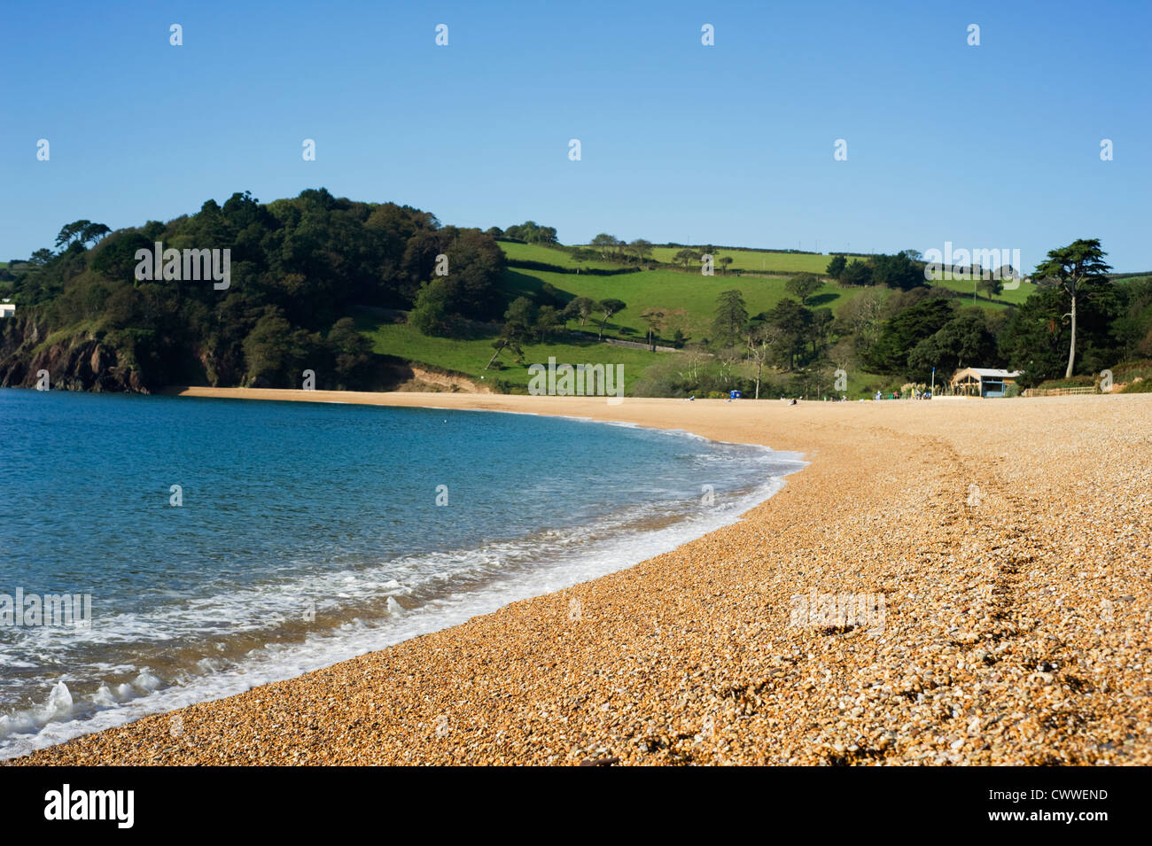 The beach at Blackpool Sands, Devon, UK - Stock Image
