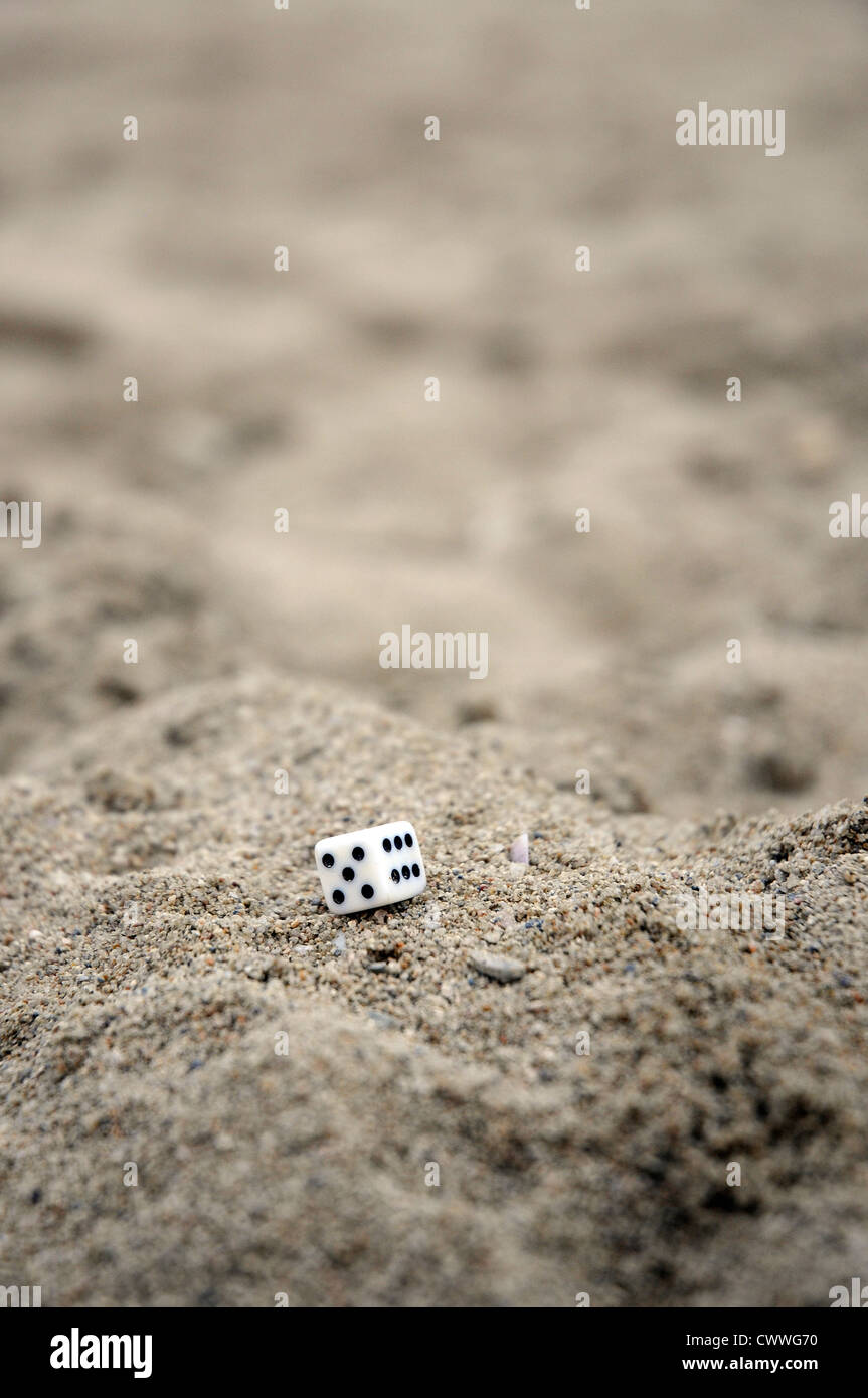 craps on the sand - Stock Image