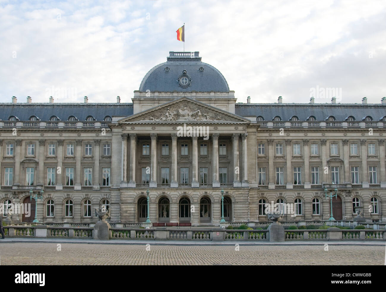 Royal Palace of Brussels Stock Photo