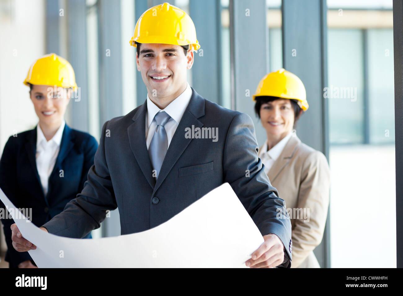 group of architects portrait - Stock Image
