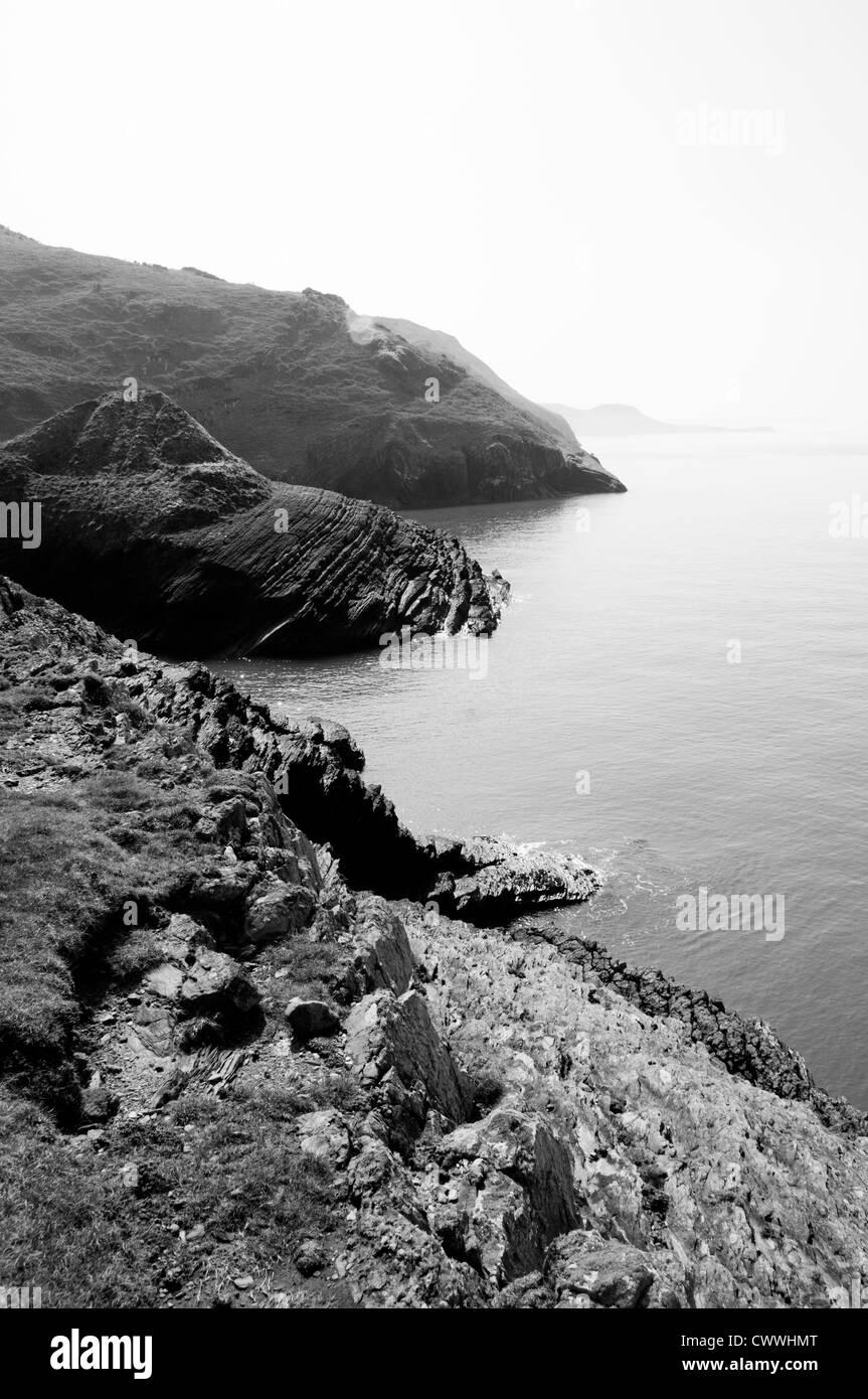 Cardigan bay near Cwmtydu - Stock Image