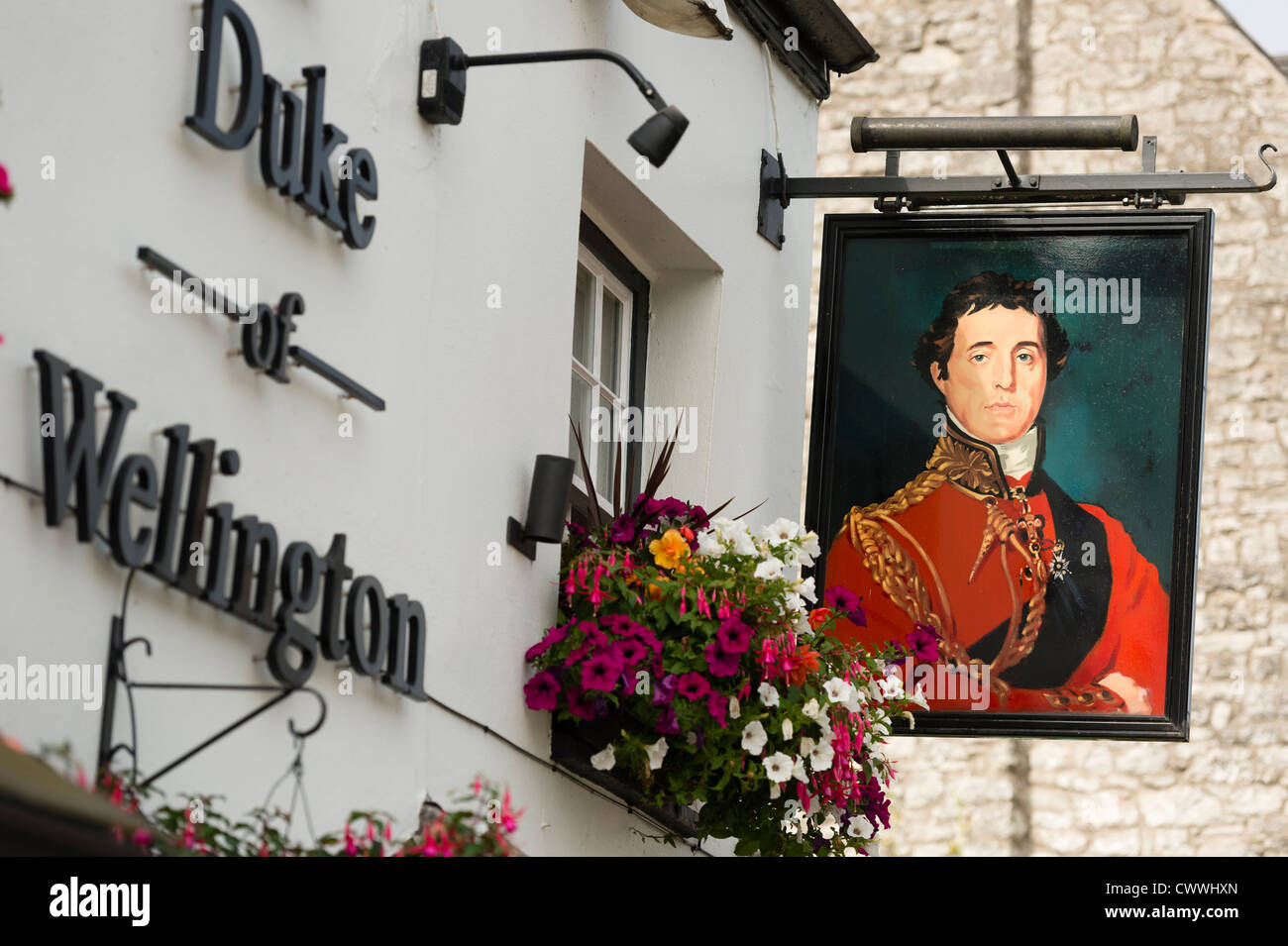 The Duke of Wellington pub, Cowbridge, Vale of Glamorgan, south wales, UK - Stock Image