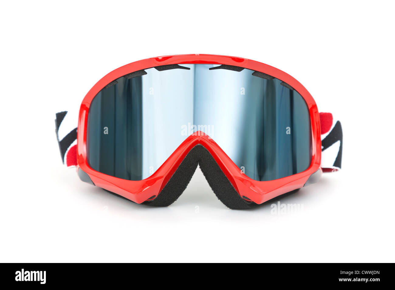 Brand new ski goggles isolated on white background - Stock Image