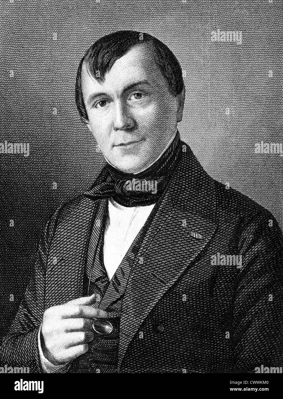 Emile de Girardin (1802-1881) on engraving from 1859. French journalist, publicist and politician. - Stock Image