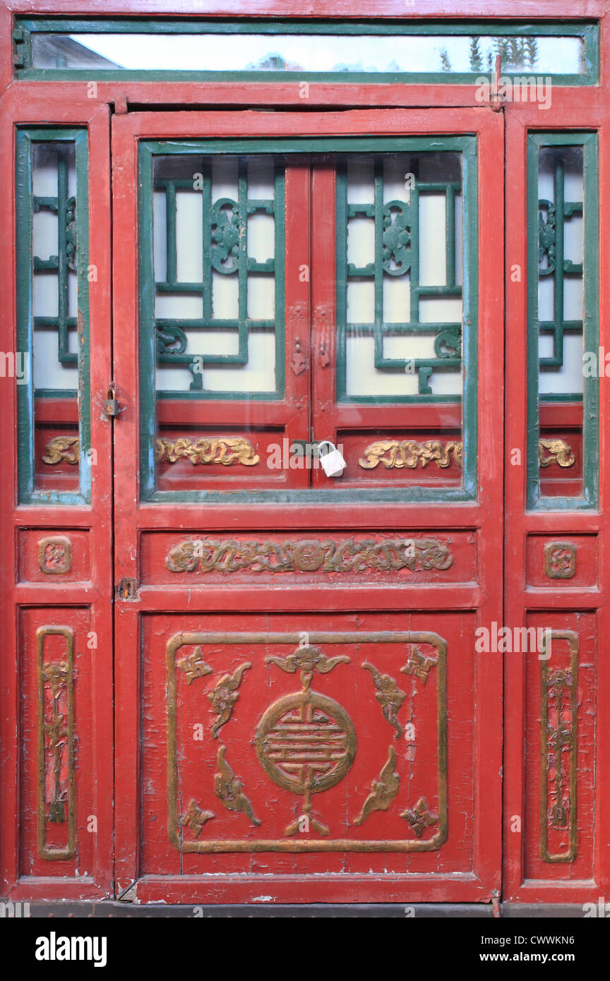 Traditional Chinese Red Door Stock Photos Traditional Chinese Red