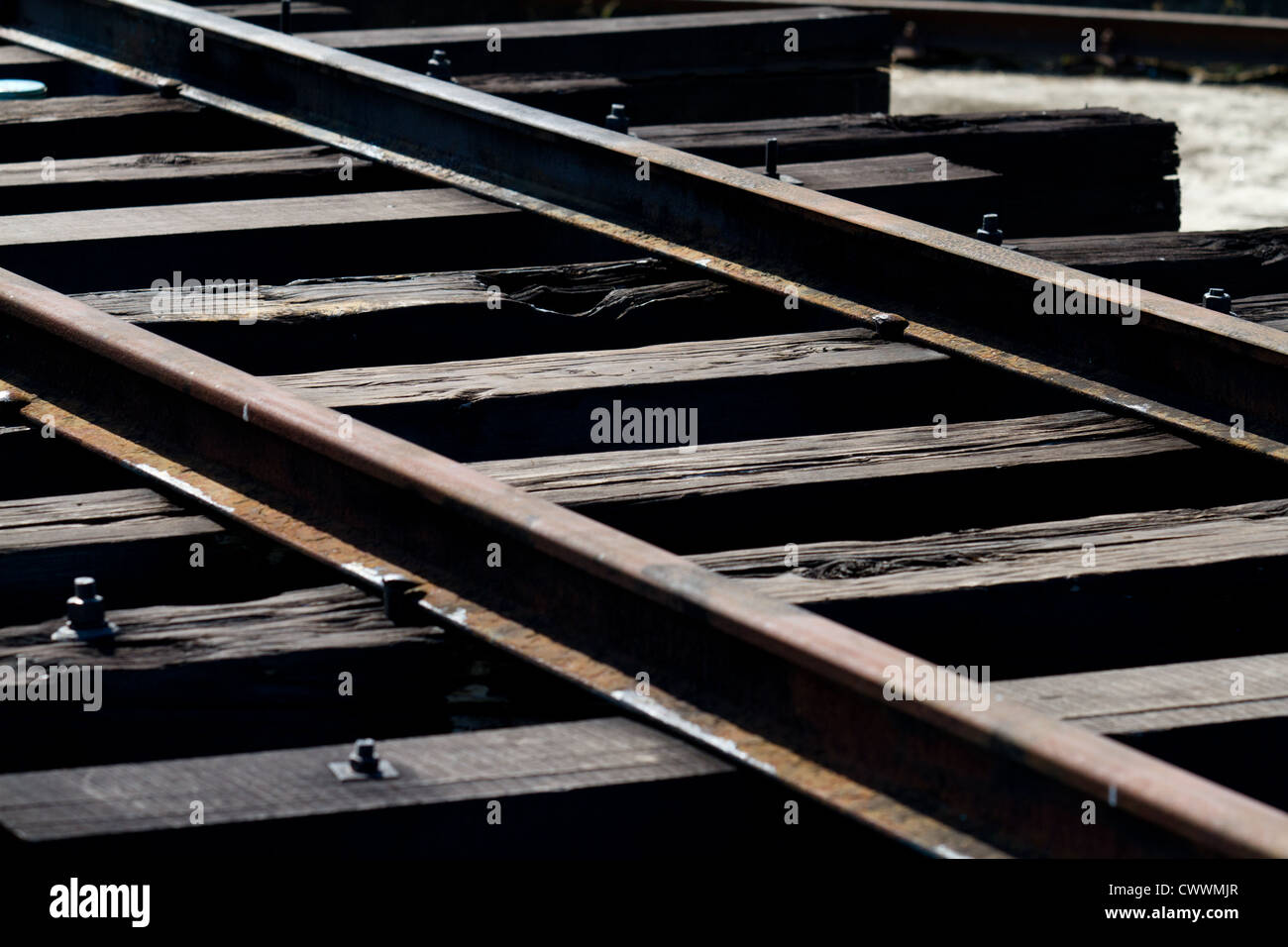 Part of the old tracks at the old Taidong train station build from