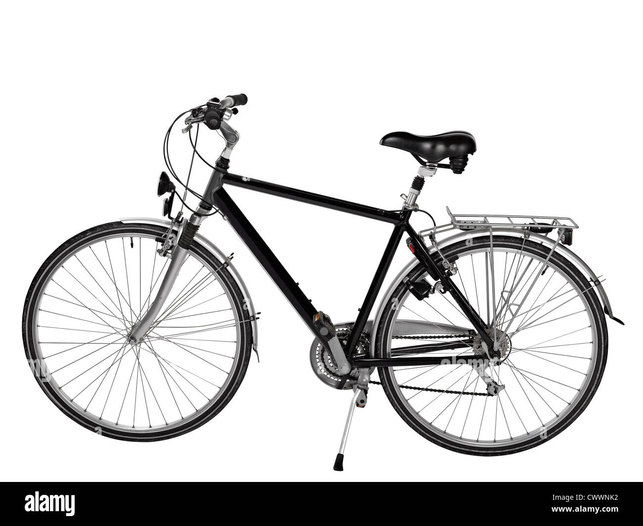 road bike isolated with clipping path - Stock Image