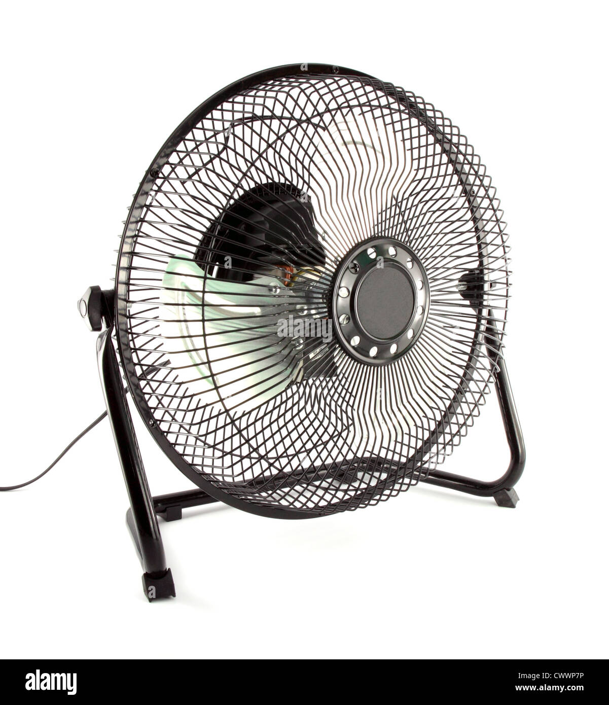 The black mini fan to reduce some hot weather - Stock Image