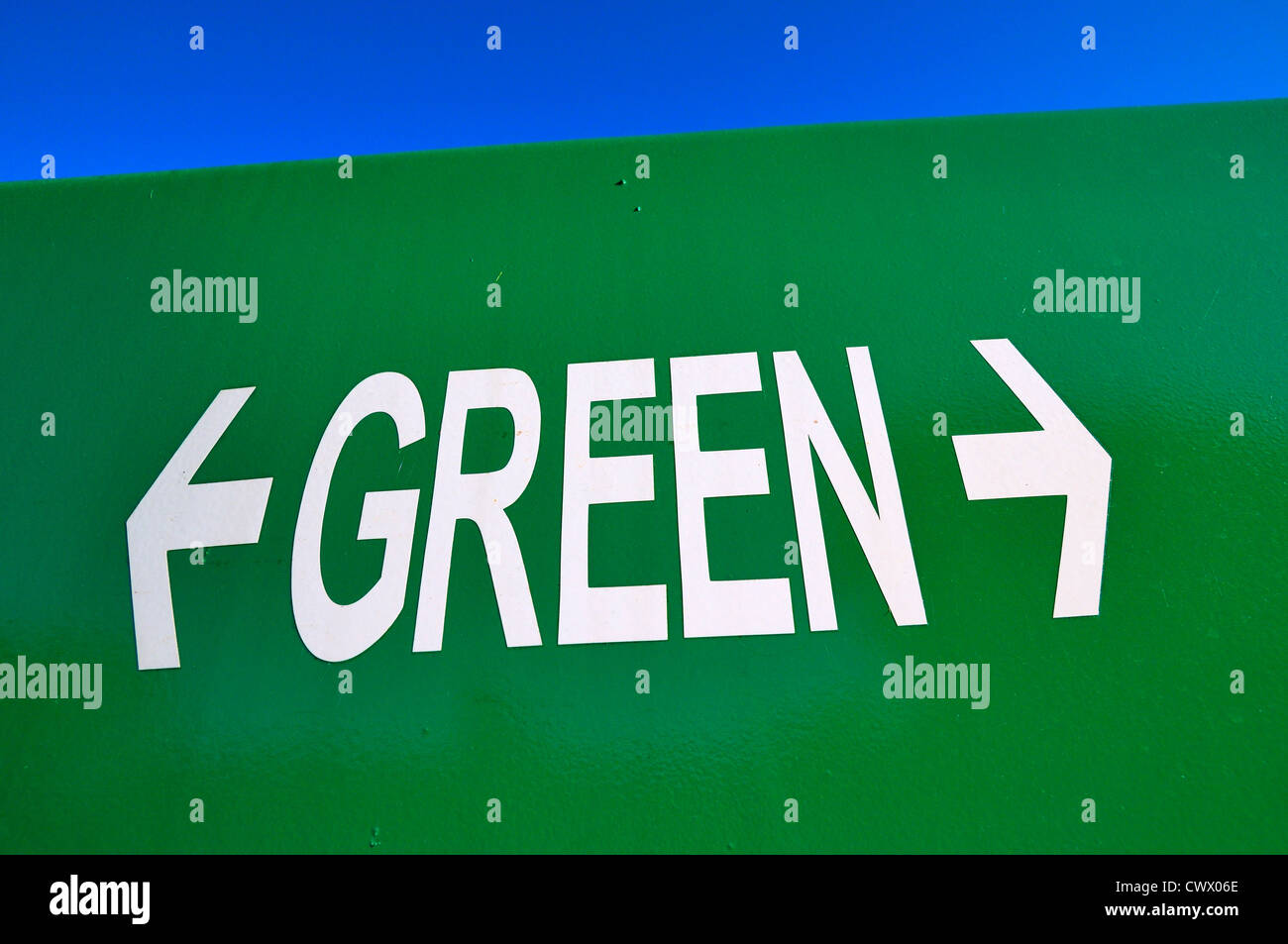 Green recycling - Stock Image