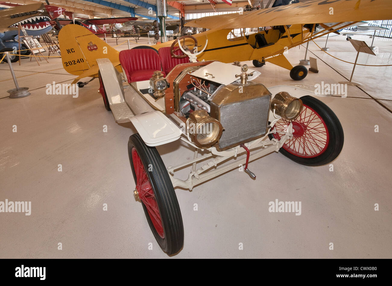 1914 Ford Model T Roadster at War Eagles Air Museum, Santa Teresa, New Mexico, USA - Stock Image