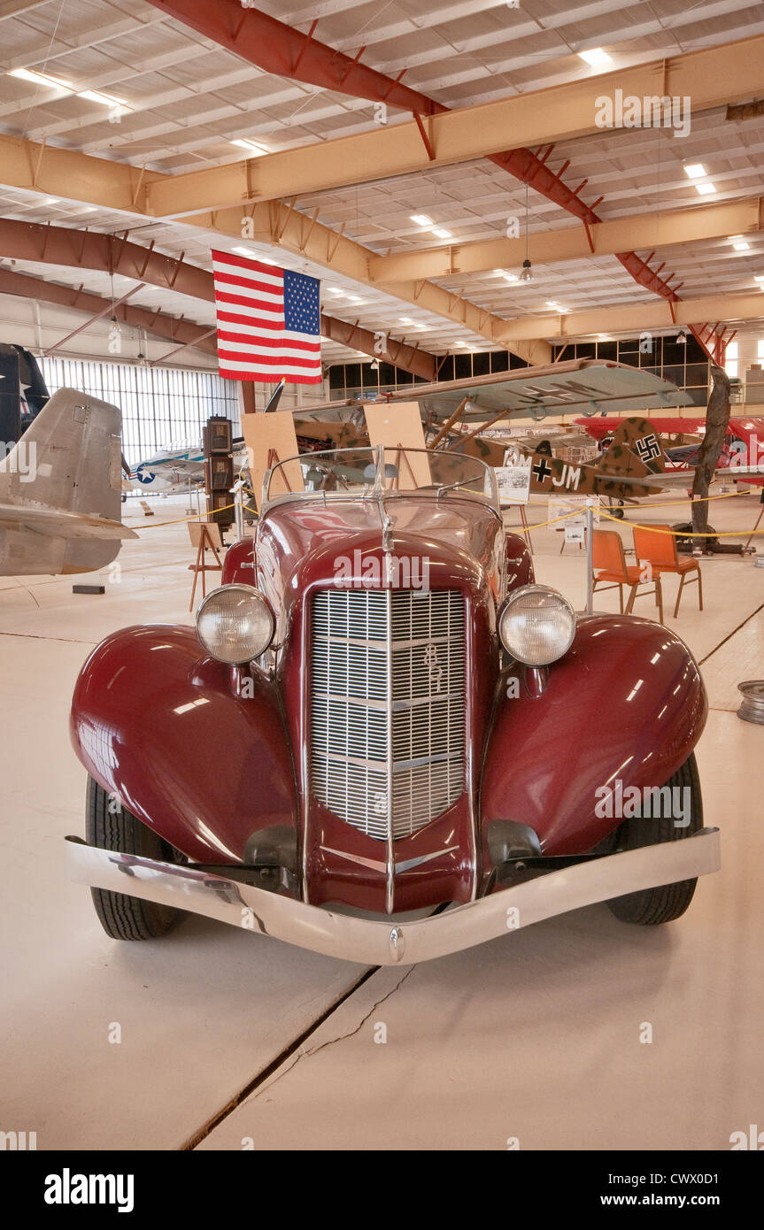 1935 Auburn Model 851 convertible at War Eagles Air Museum, Santa Teresa, New Mexico, USA - Stock Image