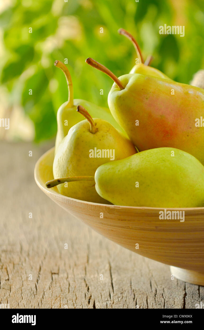 flavorful pears - Stock Image