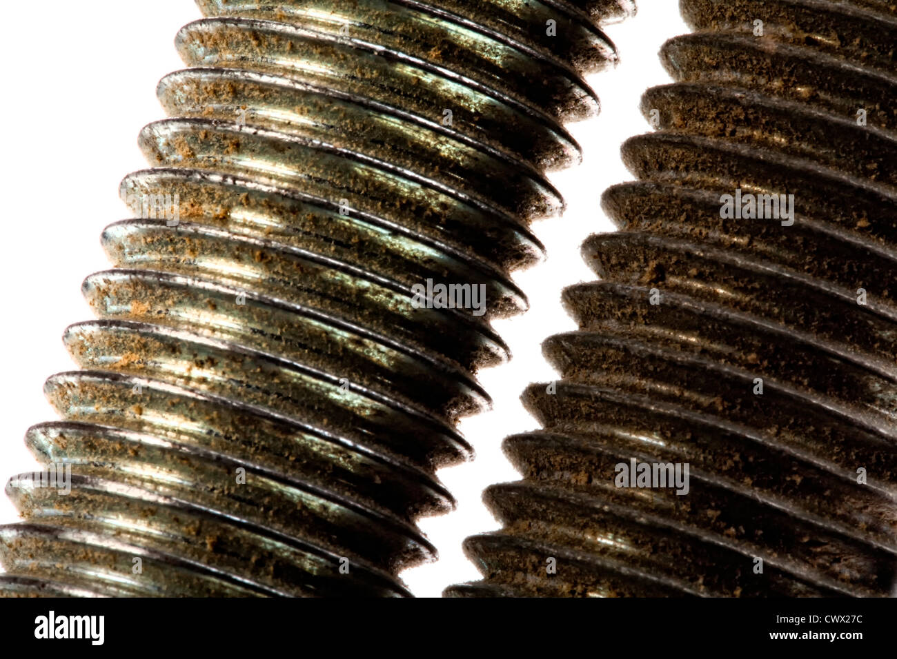 Threads of two screws - Stock Image
