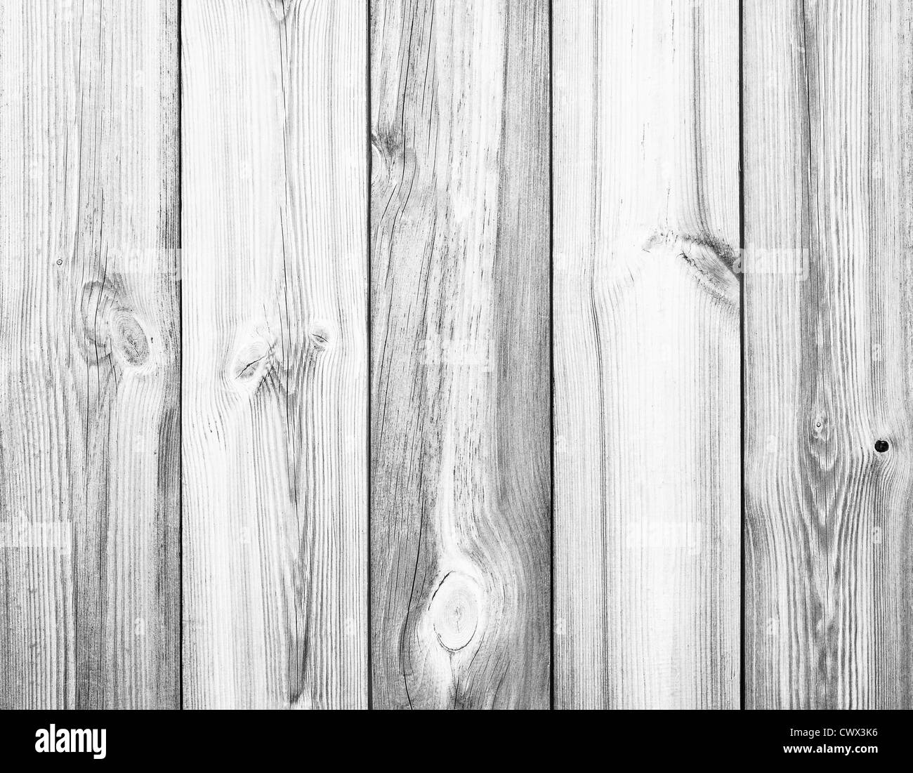 White Wood Planks as Background or Texture, Natural Pattern - Stock Image