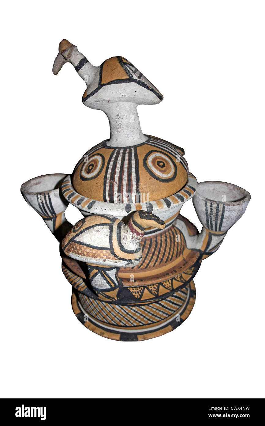 Ceremonial Water Pot Hausa Bida, Nigeria - Stock Image