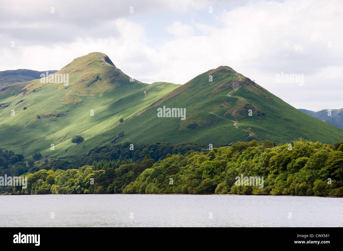 Catbells mountain, Keswick, Lake District National Park, England - Stock Image