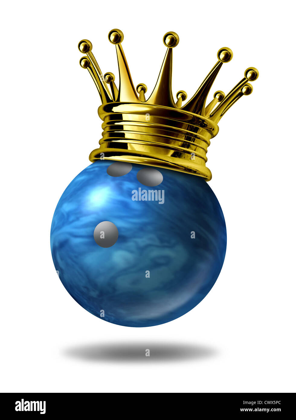 Bowling king champion symbol represented by a golden crown