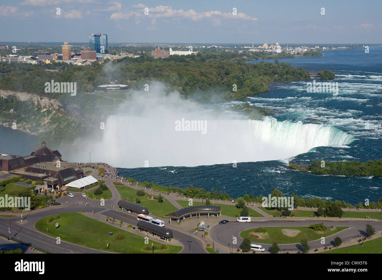 Canadian Horseshoe water falls at Niagara Falls, Canada - Stock Image