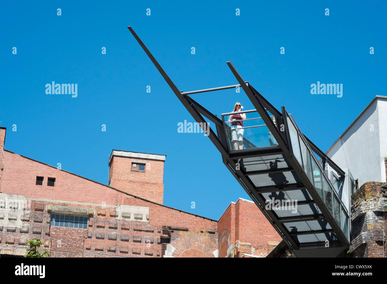 Modern architecture of viewing platform at Documentation Center at Congress Hall, National Socialist rally Grounds - Stock Image