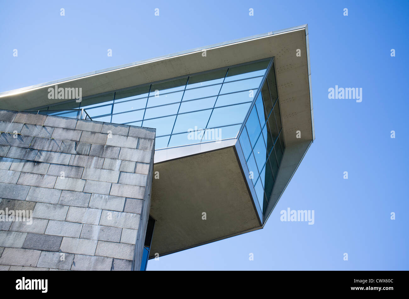 Modern architecture of Documentation Center of the National Socialist rally Grounds in Nuremberg in Bavaria Germany - Stock Image
